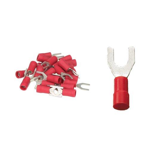 25 Gabelkabelschuhe 5, 3mm rot 0, 5 bis 1, 5 mm² K24-Flachstecker