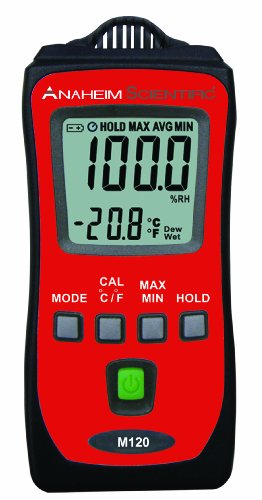 Anaheim Scientific M120 Mini Temperature/ Humidity Meter with Dew-Point and Wet-Bulb Measurements by Anaheim Scientific