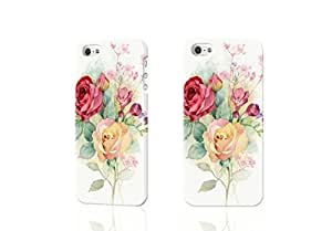 Hand-painted roses design 3D Rough iphone 5 5S Case Skin, fashion design image custom iPhone 5 5s , durable iphone 5 5S hard 3D case cover for iphone 5 5S, Case New Design By Codystore