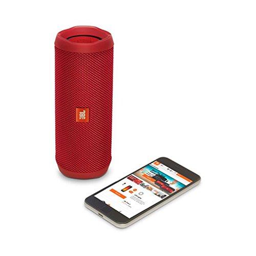 JBL Flip 4 Waterproof Portable Bluetooth Speaker (Red)