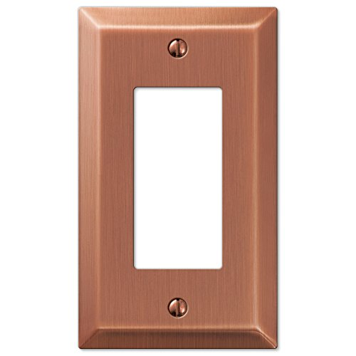 Copper Steel Duplex Outlet - Amerelle 163RAC Century Steel 1 Rocker Wallplate, Antique Copper