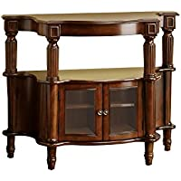 Venetian Worldwide Southampton Side Table, Antique Walnut Finish