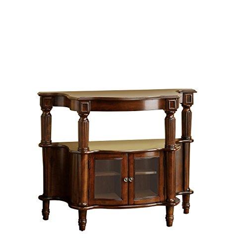 Venetian Worldwide Southampton Side Table, Antique Walnut Finish