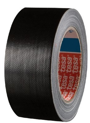Tesa Tapes 64663-9005-0 Black Professional Grade Heavy-Duty Duct Tapes, 2'' x 12 mil, 60 yd., 2Width by Tesa Tapes