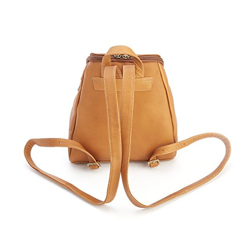 Royce Leather Men's Colombian Leather Knapsack Fashion Backpack, Tan, One Size
