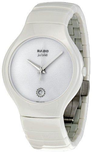 Rado Men's R27695722 True Jubile White Ceramic Bracelet Watch