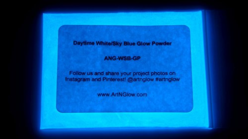 Sky Blue Glow in The Dark Pigment Powder - 60g (2 Ounces) - 10+ Colors Available (Best Glow In The Dark Powder)