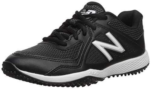 (New Balance Boys' TY4040V4 Turf Baseball Shoe, Black, 2 Medium US Little Kid)