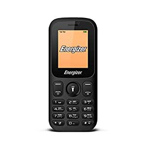 Energizer Energy E10+ Feature Phone, 32 MB RAM, Dual Mini SIM - Black