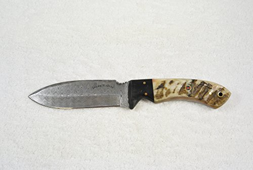 Texan Knives Damascus Steel Knives, Ram's/Buffalo's Horn Handle