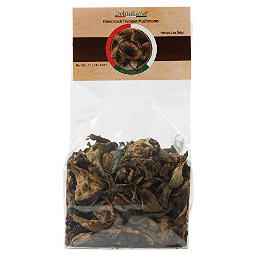 Trumpet Mushrooms - Dried Black Trumpet Mushrooms 2 Ounce