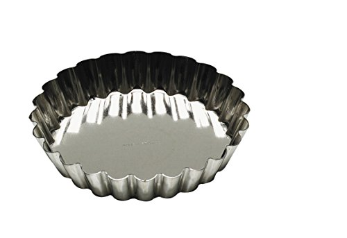 Tinned Steel Fluted Tartlet Mold - Gobel Tartlet Fluted Silver Finish Look Tinned Steel - 1-3/4