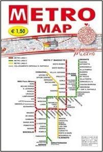 Laminated Milan Metro Map Metro Map Milano In English English