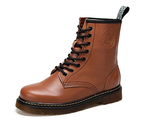 Camel Mens Classic 8 Eye Lace Up Martin Boot Marrone Taglia 44 M Eur