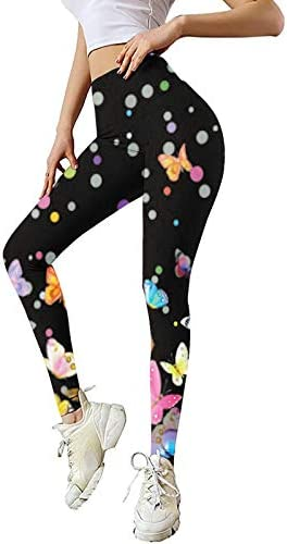 【USA in Stock】 High Waisted Printed Leggings for Women - Soft Stretch Tummy Control Pants for Running Cycling Workout Yoga