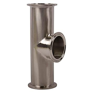 Tri Clamp 2 inch Instrument Tee Stainless Steel SS304 // 3A Glacier Tanks