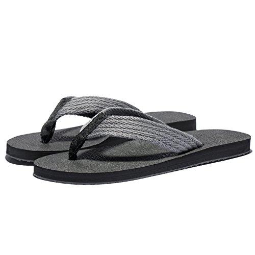 Flip Grey Slipper Flop Thongs Large Men Sandals Summer Lightweight Beach KENSBUY Size Comfort Flops Flip Extra dx4wqdfUH
