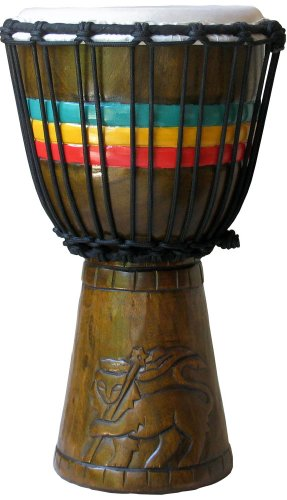 """Medium Conquering Lion Kids Series Djembe by Freedom Drums-15""""-16"""" Tall x 7""""-8"""" Playing Surface"""