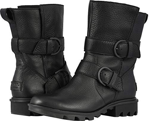 SOREL Women's Phoenix Moto Boots, Black, 9 M US