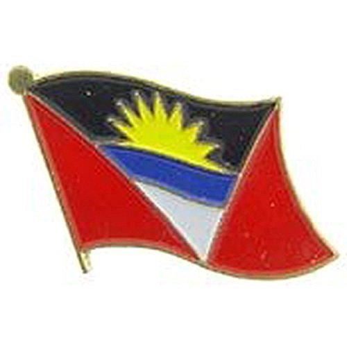 ALBATROS Pack of 24 Antigua Barbuda Country Flag Lapel Pin for Bike Hat and Cap for Home and Parades, Official Party, All Weather Indoors Outdoors
