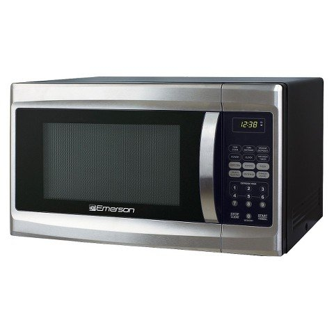 Emerson MWG1337SB, 1.3 CU. FT. 1000 Watt, Touch Control, Stainless Steel Microwave Oven by Emerson Radio