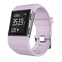 Fitbit Surge Watch Band(Small), ABC® Replacement Wristband Band Strap Clasp Buckle Tool Kit (Pink)