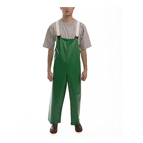 Tingley O41008.XL 17mm Flame Resistant PVC Storm Fly Front Thick Overall with High Collar and Hidden Hardware, X-Large, Green