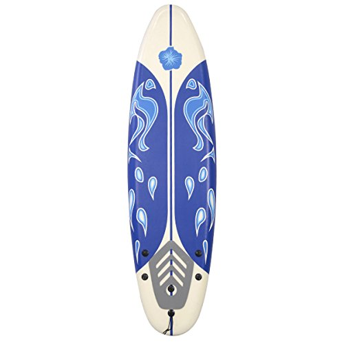 6' Surfboard Surf Foamie Boards Surfing Beach Ocean Body Boarding White by Bestsport