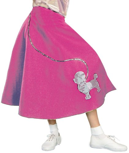Forum Flirtin' with The 50's Poodle Skirt, Pink, One (Pink Poodle Skirt Grease)