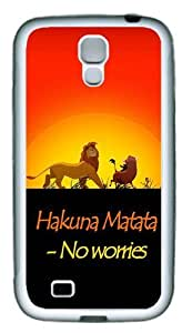 ICORER Highest Rated Samsung Galaxy S4 Cases No Worries TPU White Case Cover for Samsung Galaxy S4