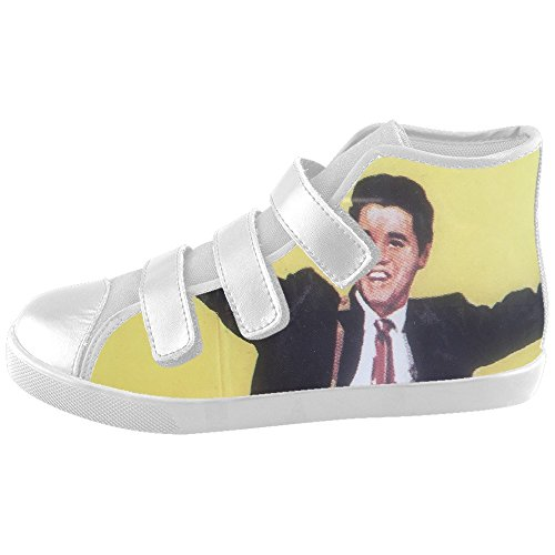 [DONGMEN Custom Unisex Elvis Presley Velcro Kids Canvas Shoes Girls Boys] (Young Elvis Presley Costumes)