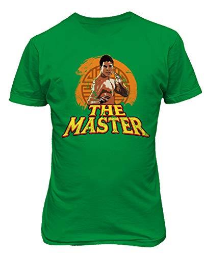 - RIVEBELLA New Graphic 80's Vintage Dragon Novelty Tee The Master Men's T-Shirt (Green, 2XL)