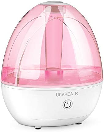 Cool Mist Humidifier Humidifier for Baby Bedroom, Super Quiet Mist Humidifier with High Low Mist, Waterless Auto-off, Night Light, 2L Capacity, Filterless Humidifiers for home office, ETL Approved