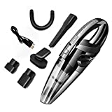 MOGOI Handheld Vacuums Cordless Rechargeable 120w Powerful Cyclonic Suction Wet Dry Lightweight Car Hand Vacuum Cleaner (Black)