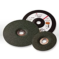 3M(TM) Green Corps(TM) Depressed Center Wheel, Ceramic Aluminum Oxide, 36 Grit, 13300 rpm, Green (Pack of 10)