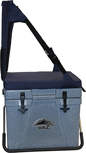 Sub Z 2193382 23 Quart Rotomolded Cooler with Seat, Blue