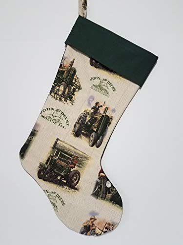 John Deere Stocking Holder - Farm Tractor Splash Quilted Christmas Stocking