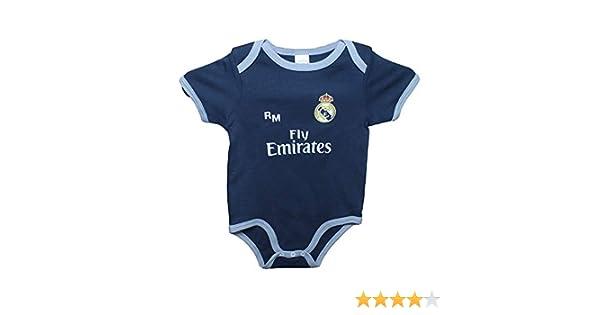 Real Madrid FC Body Niños - Producto Oficial Segunda Equipación 2018/2019 - Personalizable - Nombre