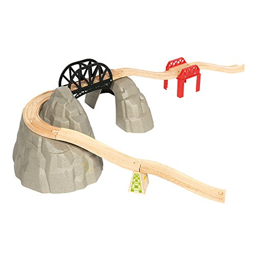 Bigjigs Rail Wooden Rocky Mountain Expansion Pack   Other Major Wooden Rail Brands Are Compatible