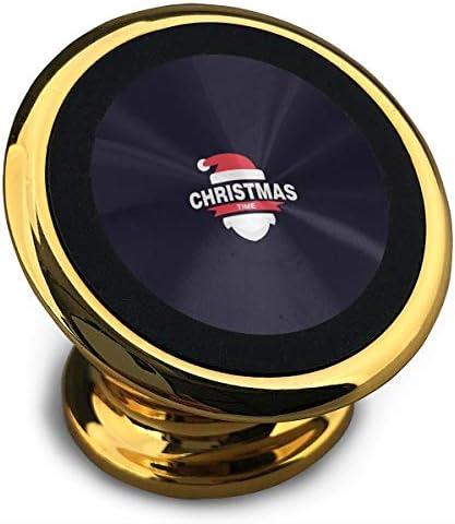 かわいいクリスマスサンタクロース 携帯電話ホルダー おしゃれ 車載ホルダー 人気 磁気ホルダー 大きな吸引力 サポートフレーム 落下防止 360度回転