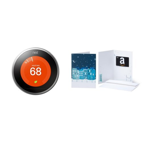 Nest Learning Thermostat, 3rd Generation and $50 Amazon.com Gift Card