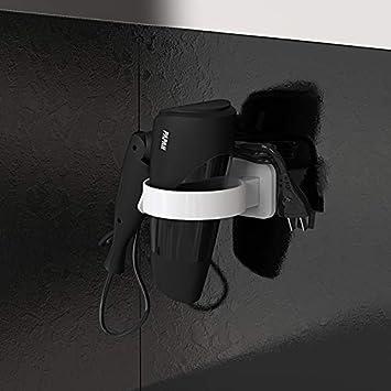 MEIZHIJIA Kostenlos Stanzen Bad F/ön Rack Bad Luftkanal Rack Kleiderb/ügel F/ön Ablageboden Wandhalterung Rack Schwarz 10,7X8,2X9,1 cm