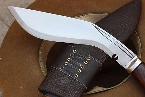Amazon.com: Genuine Full Tang forjado a mano Blade khukri ...