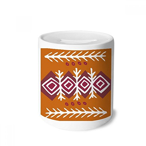 DIYthinker Brown Dart Mexico Totems Ancient Civilization Money Box Saving Banks Ceramic Coin Case Kids Adults
