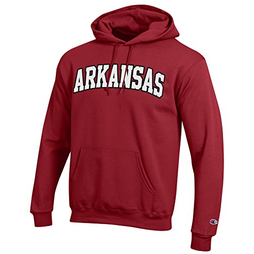 NCAA Arkansas Razorbacks Men's Eco Power Blend Hooded Sweat Shirt, X-Large, Cardinal Arkansas Razorbacks Ncaa Applique