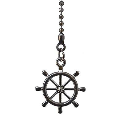 Metal Mini small Nautical Ship Wheel Fan Pull
