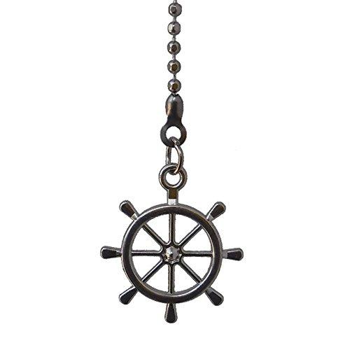 Metal-Mini-small-Nautical-Ship-Wheel-Fan-Pull