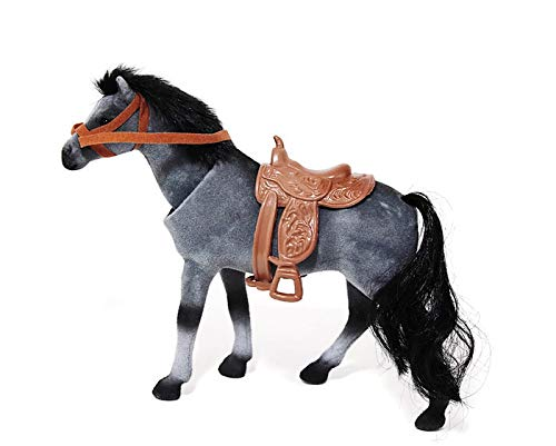 Majestic Bobblehead Horse with Dashboard Adhesive (Grey)