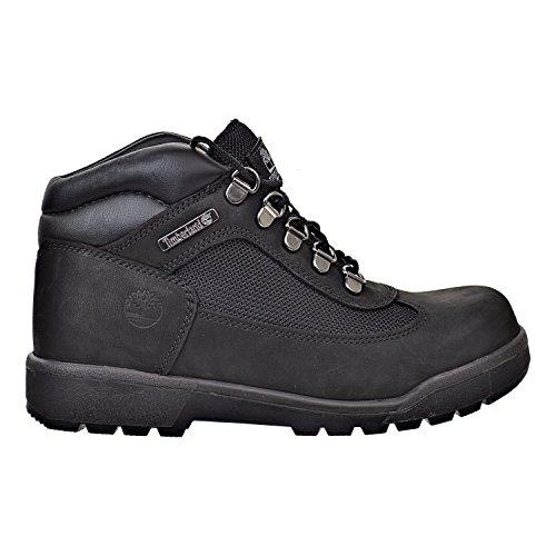 (Timberland Kids Unisex Fabric/Leather Field Boot (Big Kid) Black Waterbuck Nubuck 6 M US Big Kid M)