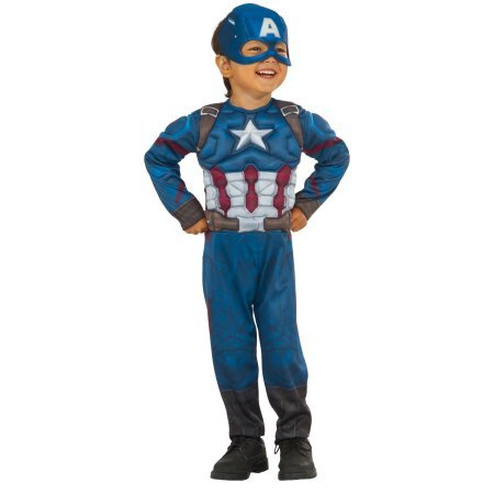 Captain America Muscle Chest Boys Toddler Halloween Costume 2T (Discount Costume)